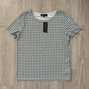 Jones New York Signature Shirt XL Blue White Print